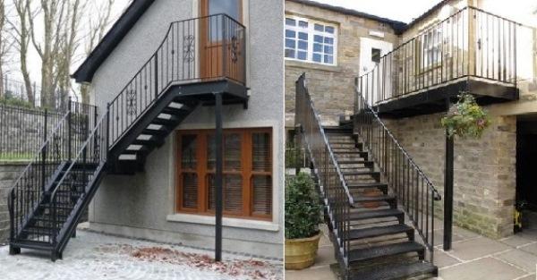 Металлические и деревянные лестницы а второй этаж