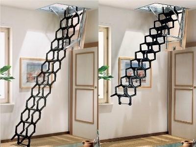 Одна из разновидностей выдвижных лестниц