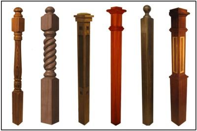 Варианты столбов для опоры