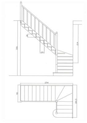 Общая схема лестницы