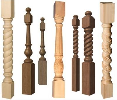 Балясины с резными узорами для лестничных конструкций