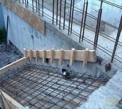 Процесс сборки опалубки