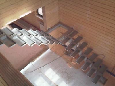 Каркас конструкции с площадкой