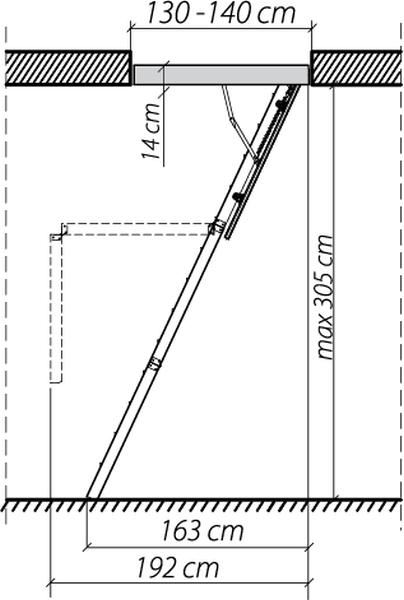 Монтаж лестничного сооружения на мансарду