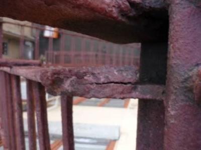 Коррозия лестницы