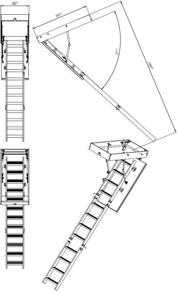 Лестничная установка раскладная