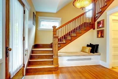 Трехмаршевая П-образная лестница
