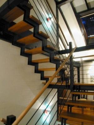 Стандартная деревянная лестница