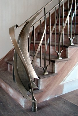 Кованные ограждения для лестниц