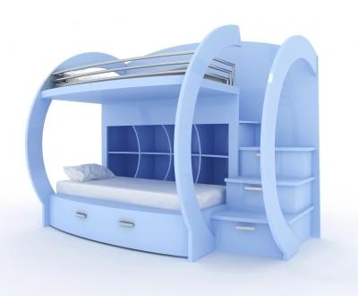 Ступени для кровати в два уровня