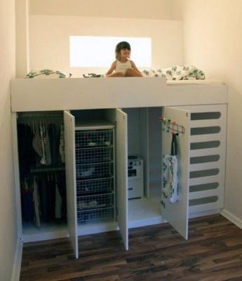 Спальное место на гардеробе