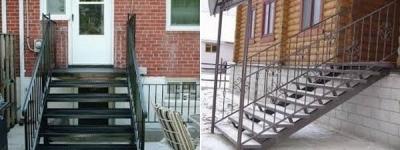 Входные металлические лестницы