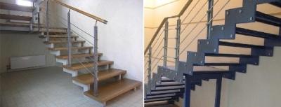 Лестница на косоурах и тетивах