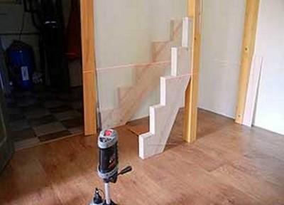 Расположение несущих элементов конструкции лестницы
