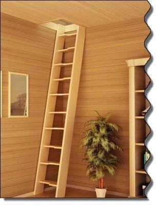 Оригинальная лестница на мансарду, «утиный шаг»