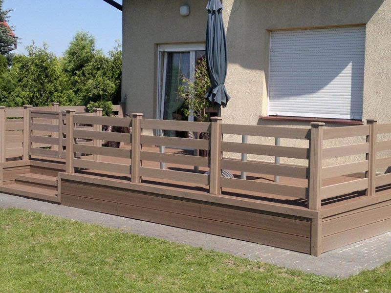 Деревянная ограда для террасы своими руками