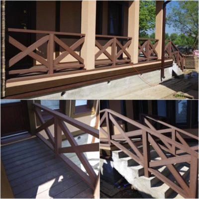 Ограждение террасы является важным звеном при благоустройстве жилой территории, а выбор материала и дизайна элементом ландшафта