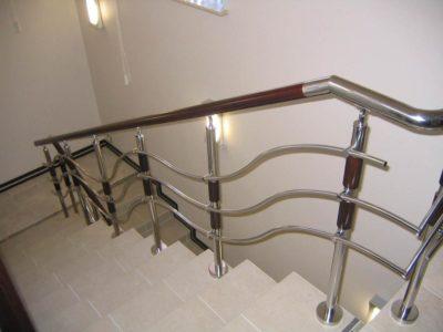 Ограждение для лестниц из нержавейки (комплектующие)