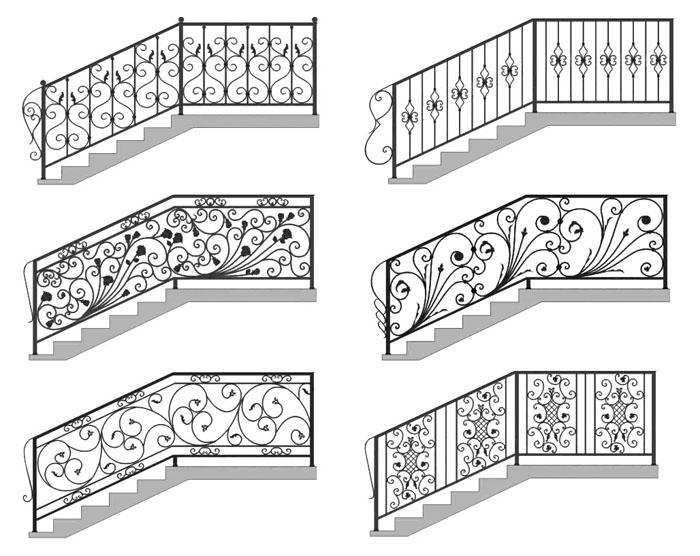 Узоры для лестниц и перил